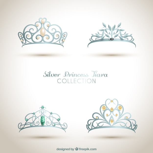 Coroas de princesa ornamentais Vetor grátis