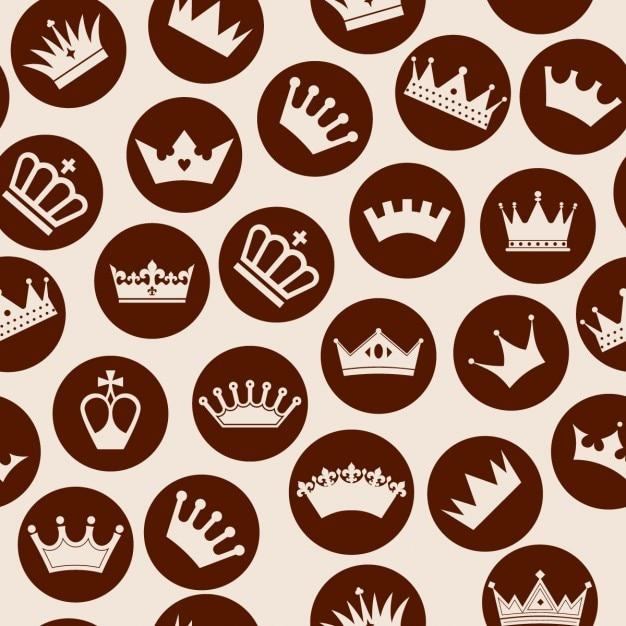 Coroas padrão sem emenda Vetor grátis