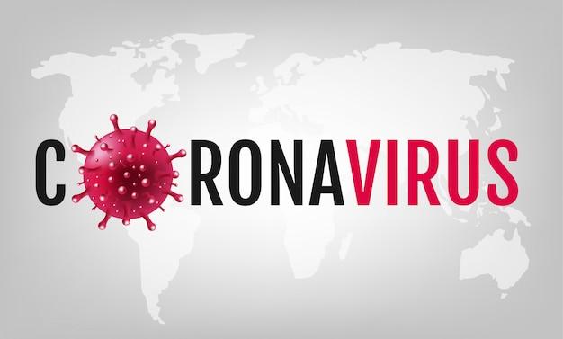 Coronavirus 2019 ncov fundo cinza Vetor Premium