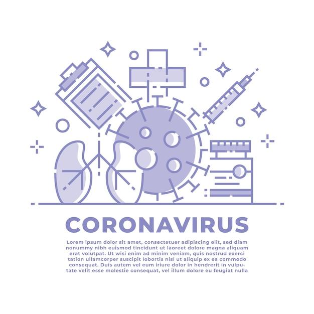 Coronavírus e ilustração médica Vetor Premium