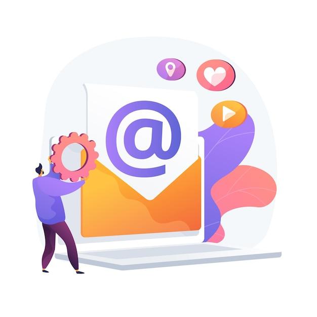 Correio eletrônico. recebendo e enviando e-mails. troca de mensagens por dispositivo eletrônico. conexão com a internet, comunicação, correspondência. Vetor grátis