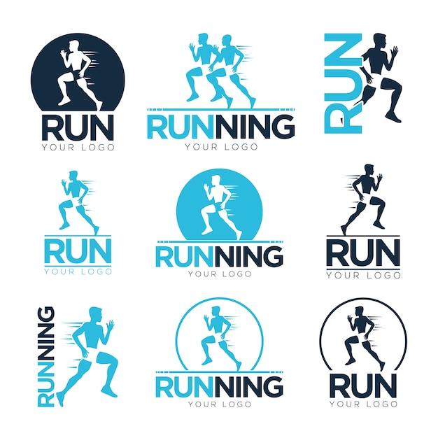 Correndo logo templates Vetor grátis