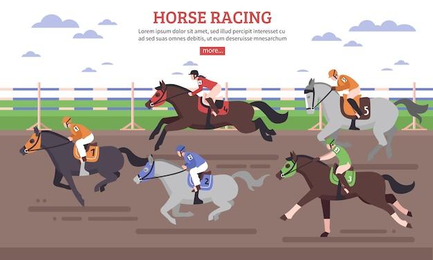 Corrida de cavalo Vetor grátis