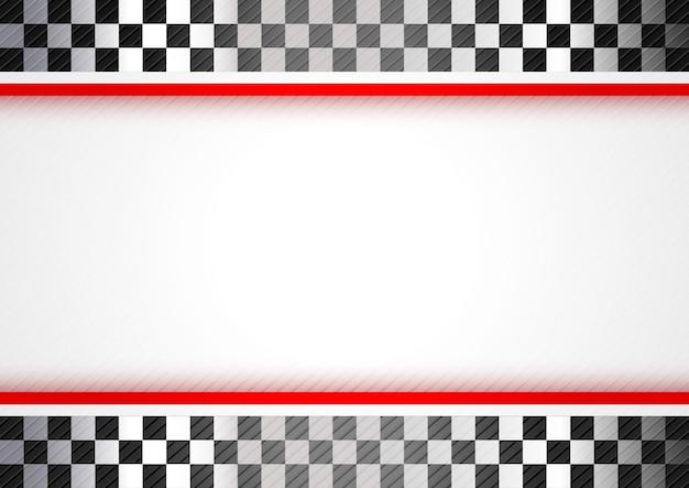 Corridas de fundo vermelho Vetor Premium