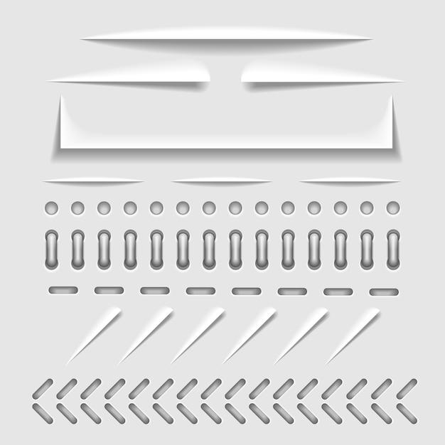 Corte de papel Vetor Premium