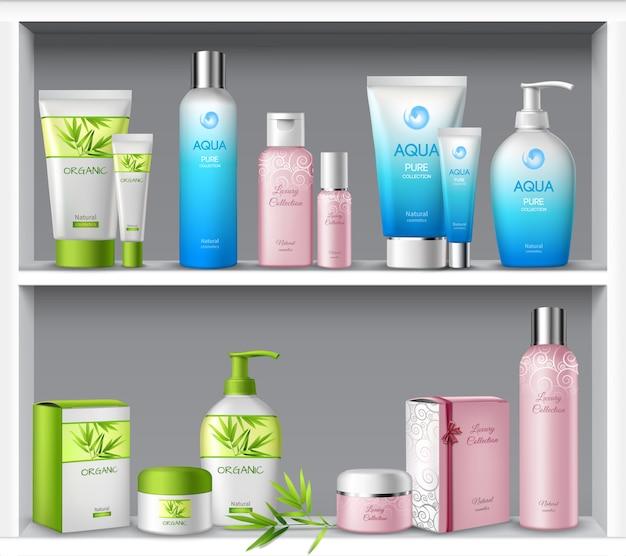 Cosmética feminina e produtos de tratamento de beleza de higiene Vetor grátis