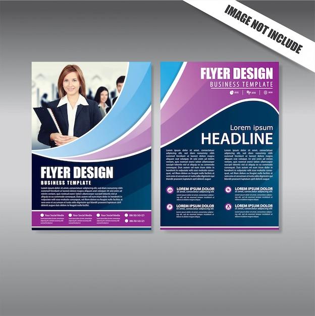 Cover design folheto e brochura modelo de negócio Vetor Premium