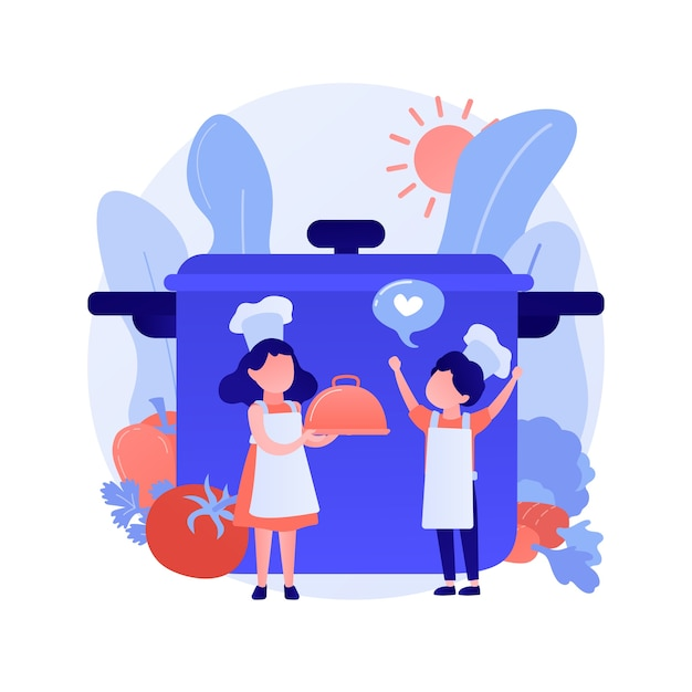 Cozinhe com chapéu segurando sobremesas deliciosas. cupcakes de cenoura tradicionais, muffins de vegetais, deliciosos produtos de panificação. personagem de desenho animado do chef. ilustração vetorial de metáfora de conceito isolado Vetor grátis