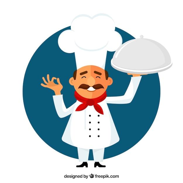 Cozinheiro chefe pequeno ilustração Vetor grátis