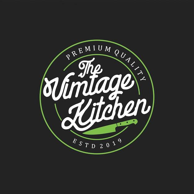 Crachá de cozinha vintage Vetor Premium
