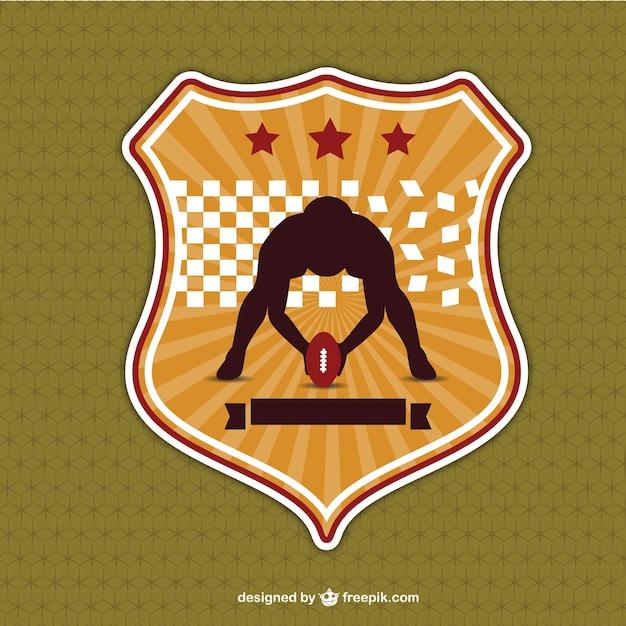 Crachá de futebol americano do vintage  577b556e5cd65