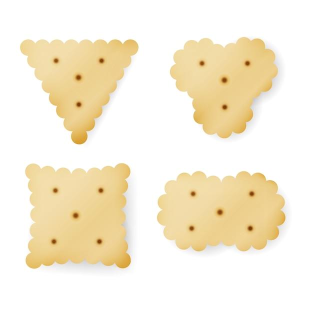 Cracker em diferentes formas Vetor Premium
