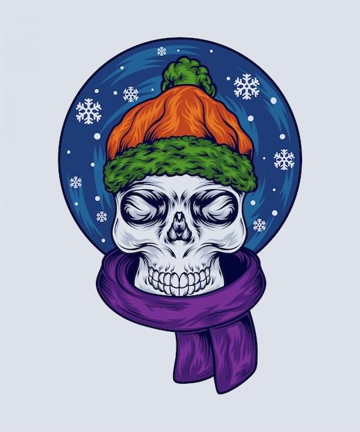 Crânio de inverno Vetor Premium