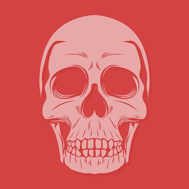 Crânio grande dentes Vetor Premium