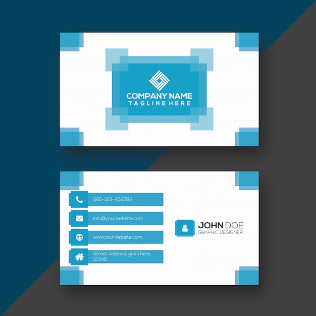 Creative blue white print ready business card design baixar creative blue white print ready business card design vetor premium reheart Images
