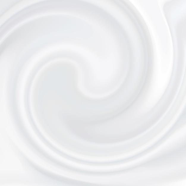 Creme branco. produto cosmético, textura líquida leitosa, creme, mousse branca suave. Vetor Premium