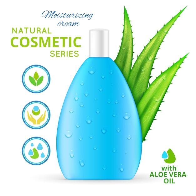 Creme hidratante cosméticos naturais design Vetor grátis