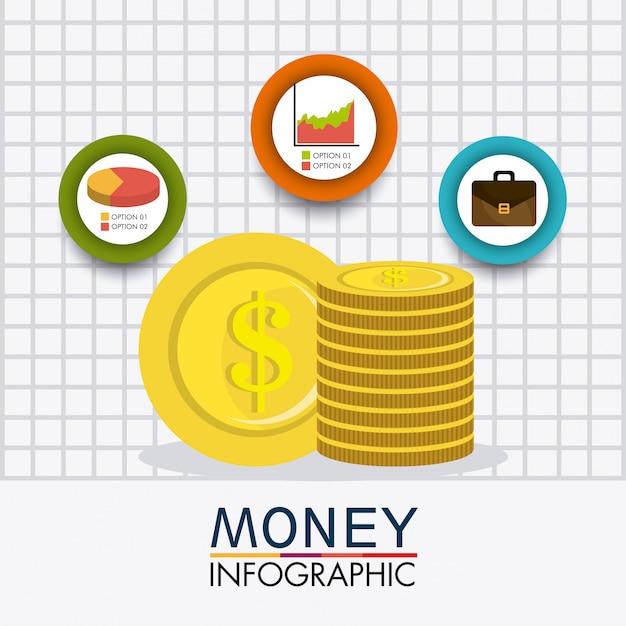 Crescimento de negócios e economia de dinheiro Vetor grátis