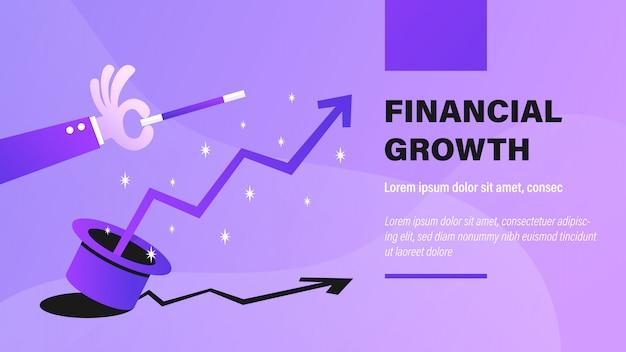 Crescimento financeiro. Vetor Premium