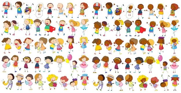 Crianças culturais Vetor grátis