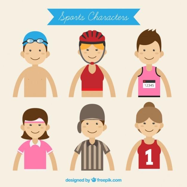 Crianças desporto agradáveis Vetor grátis