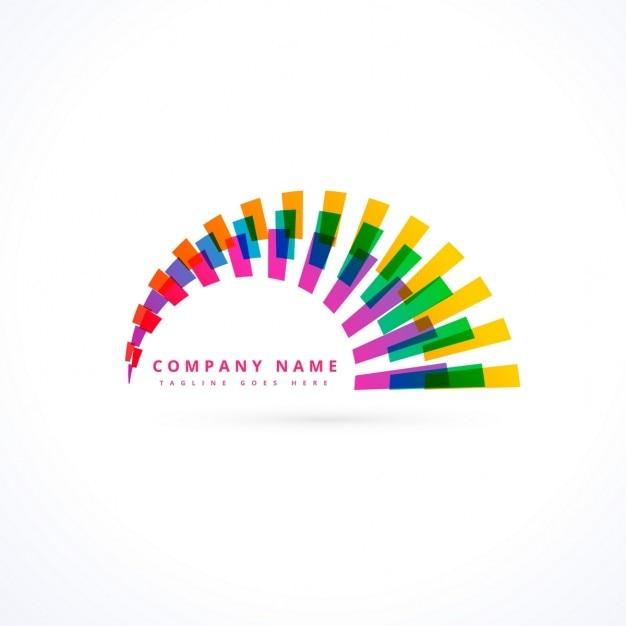 Criativa vibrante vector logo do arco-íris Vetor grátis