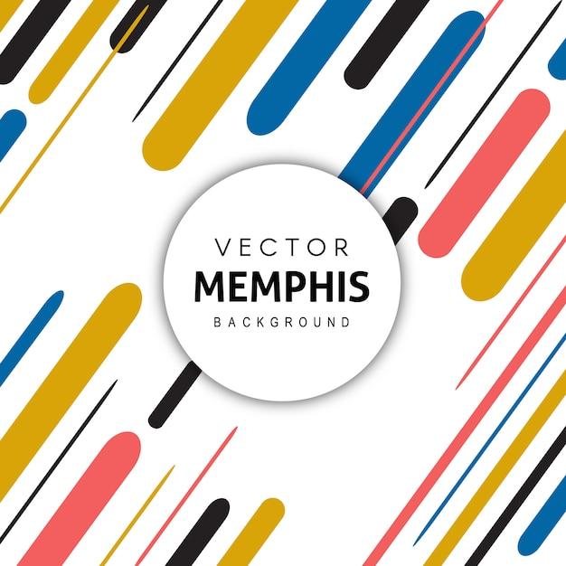 Criativo colorido memphis pattern background Vetor Premium