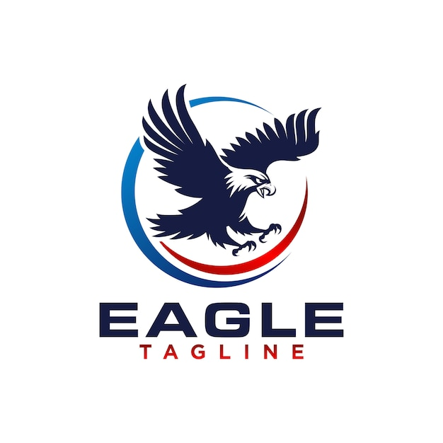 Criativo eagle logo stock vector Vetor Premium