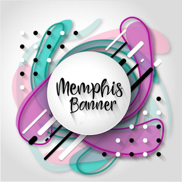 Criativo Memphis abstrato Vetor grátis