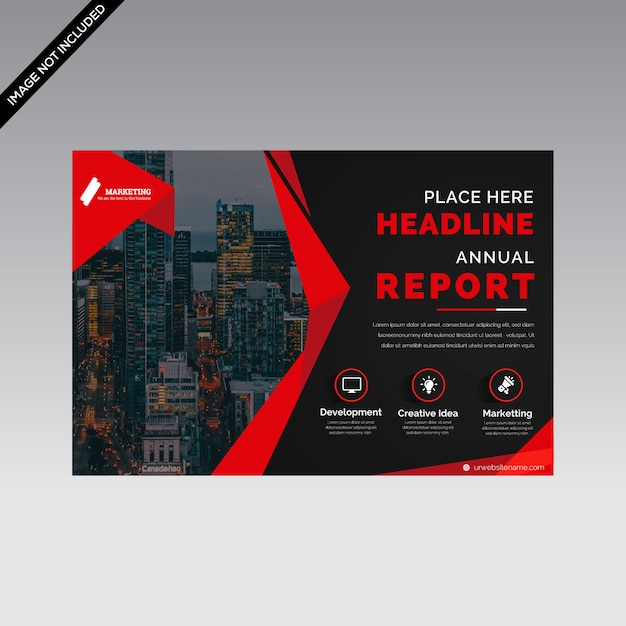 Criativo modelo de panfleto horizontal premium vector Vetor Premium