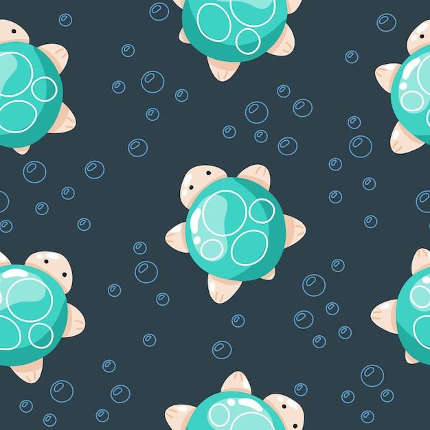 Criaturas do mar bonito, mão ilustrações desenhadas para roupas de bebê, têxteis Vetor Premium