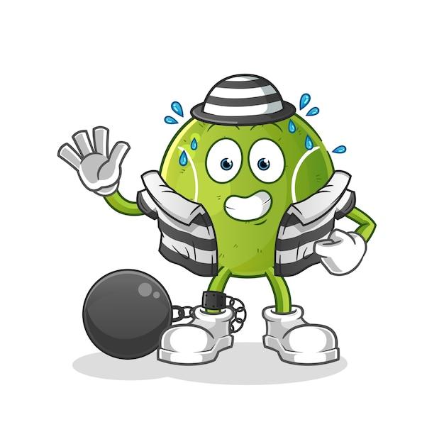 Criminoso de tênis. personagem de desenho animado Vetor Premium