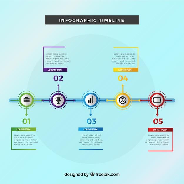 Cronograma de negócios com design plano Vetor grátis