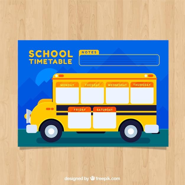 Cronograma escolar para organizar atividades Vetor grátis