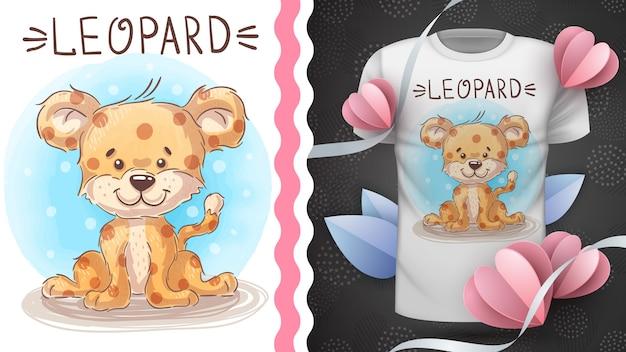 Cte bebê leopardo, idéia para impressão t-shirt Vetor Premium