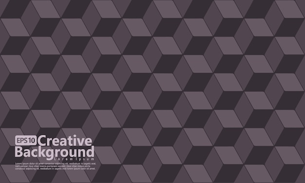 Cubo hexagonal molda cor geométrica, preta. Vetor Premium