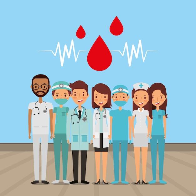 Cuidados de saúde médicos Vetor Premium