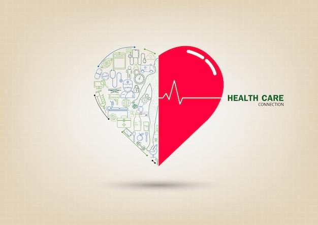 Cuidados de saúde Vetor Premium