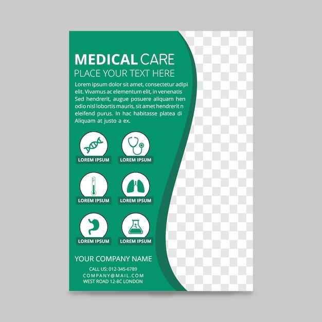 cuidados médicos panfletos baixar vetores grátis
