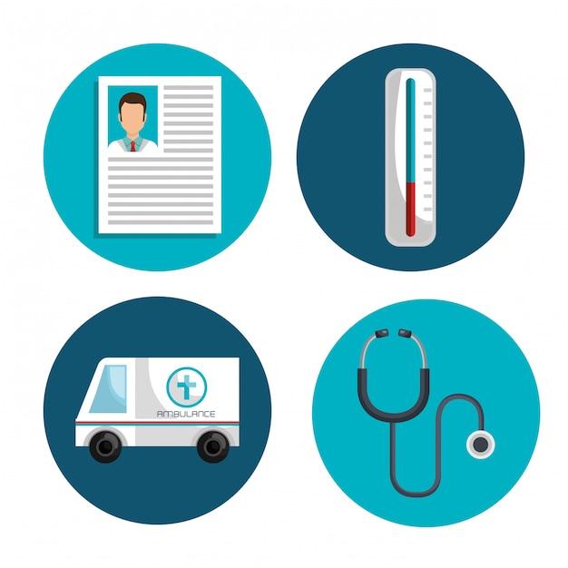 Cuidados médicos Vetor grátis
