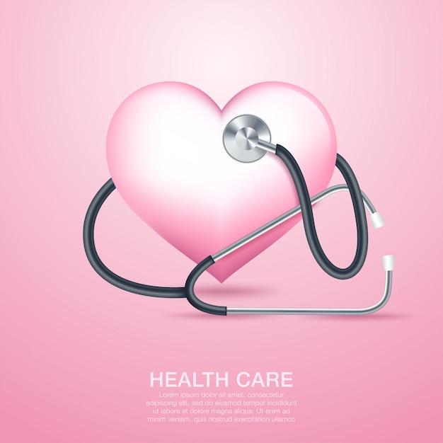 Cuidados médicos Vetor Premium