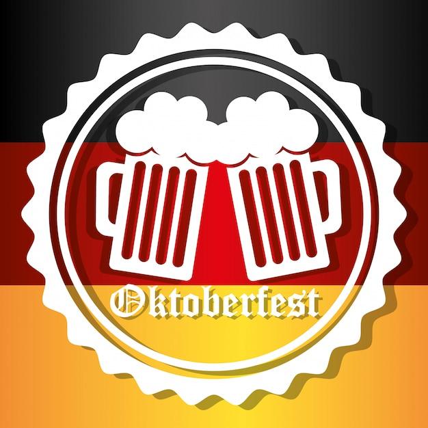 Culturas de alemanha e oktober fest design. Vetor Premium