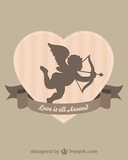 Cupido silhueta Vetor grátis