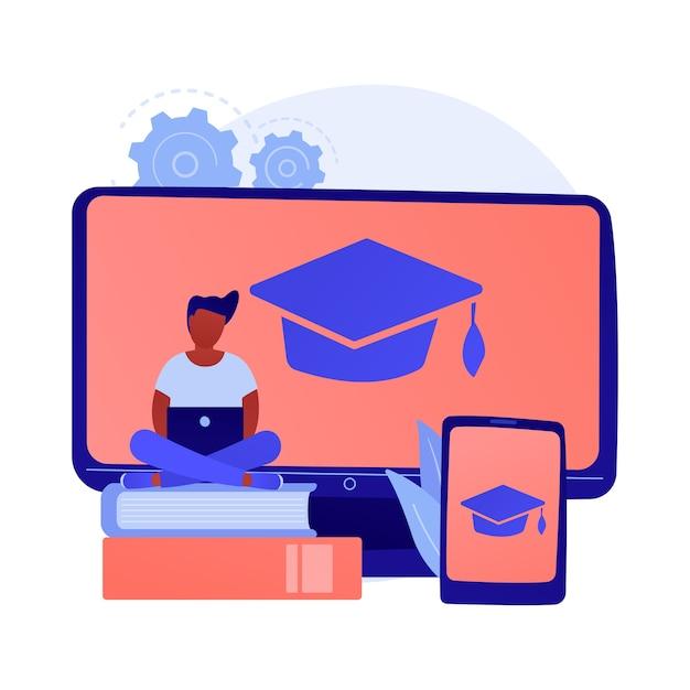 Curso online de matemática. departamento universitário de economia, aulas de internet, aulas de contabilidade. arquivo digital de livros didáticos de contabilidade e matemática Vetor grátis
