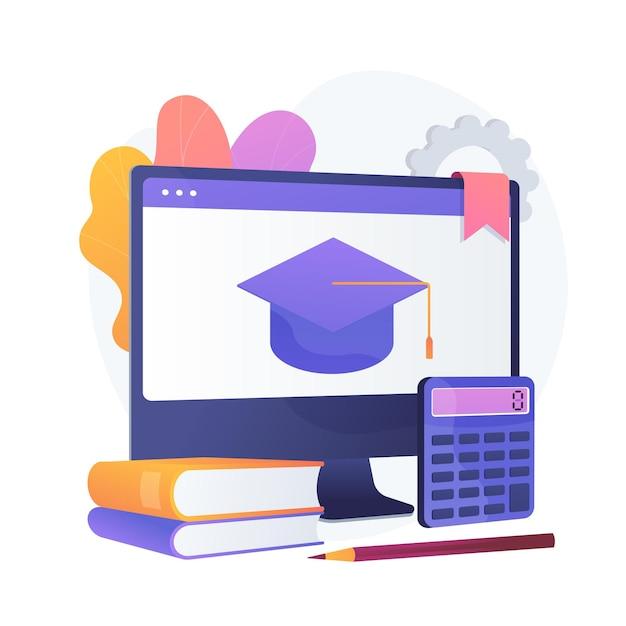 Curso online de matemática. departamento universitário de economia, aulas de internet, aulas de contabilidade. arquivo digital de livros didáticos de contabilidade e matemática. Vetor grátis