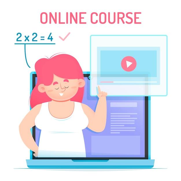 Cursos e tutoriais on-line Vetor grátis