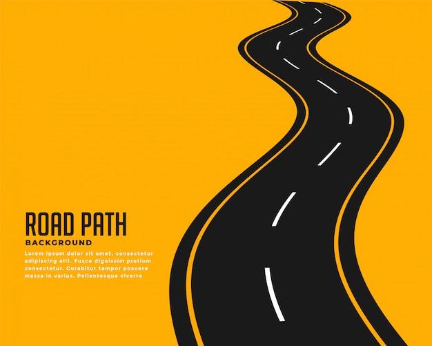 Curva de estrada sinuosa Vetor grátis