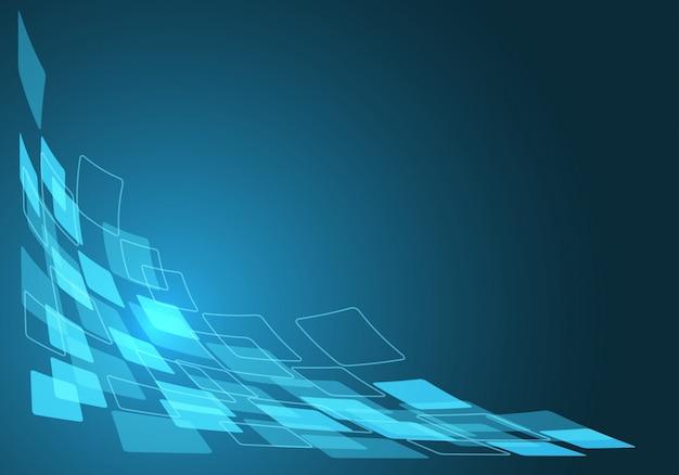 Curva de fluxo de dados azul com fundo do espaço em branco. Vetor Premium