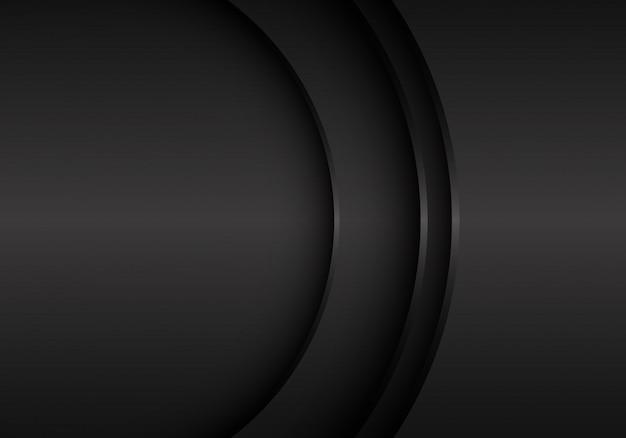 Curva preta do metal com fundo do espaço vazio. Vetor Premium