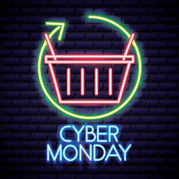Cyber segunda-feira loja Vetor grátis